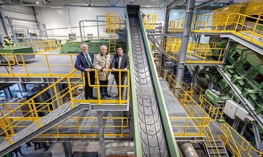 Mayer, Recycling Anlage Eröffnung