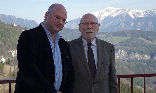 Florian Krumpöck (l.) zieht zufrieden Bilanz