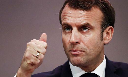 Der französische Präsident Emanuel Macron