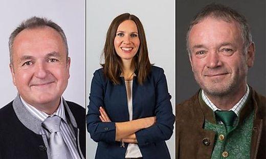 Die Spitzenkandidaten aus Kappel: (Von links) Josef Klausner, Andrea Feichtinger und Bertram Terkl