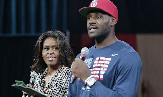 Michelle Obama und LeBron James