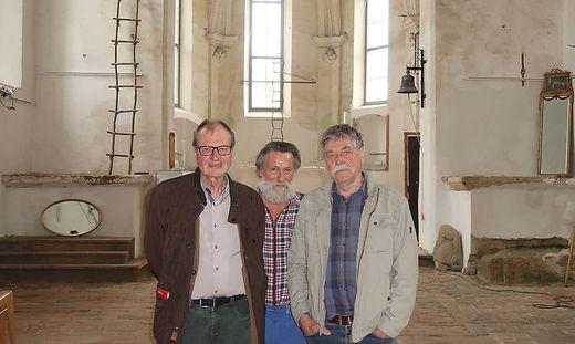 Helmut Salzmann, Erich Gladys und Franz Krammer (v. l.) sind stolz