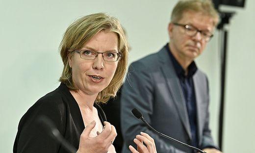 Klimaschutzministerin Leonore Gewessler und Gesundheitsminister Rudi Anschober