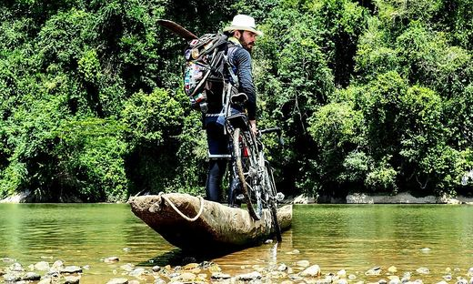 Helmut Pucher in Honduras. Nicht immer ging es nur mit dem Rad weiter