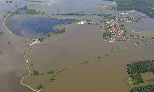 2013 gab es an der Donau ein großes Hochwasser