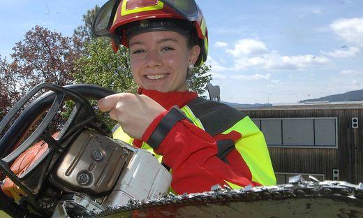 Mit 18 Waldarbeit-Staatsmeisterin: Magdalena Kalcher