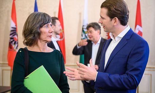 Wiens Grünenchefin Hebein und ÖVP-Chef Kurz