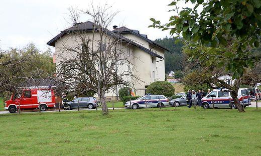 Vor diesem Haus in Guttaring kam es zum folgenschweren Sprengstoffanschlag