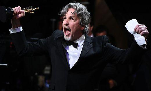 Peter Farrelly freut sich über den Oscar