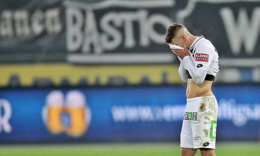 Nicht nur Ivan Ljubic konnte bei der 0:4-Niederlage von Sturm gegen den WAC nicht mehr hinsehen