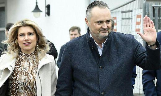 Landeshauptmann Hans Peter Doskozil (SPÖ) und seine Verlobte Julia Jurtschak