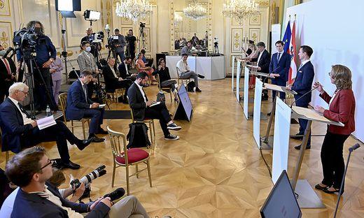 Pressekonferenz nach der Regierungsklausur