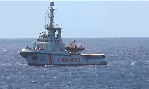 ITALY-OPEN ARMS-NGO-MIGRATION-RESCUE-UE-POLITICS-REFUGEES
