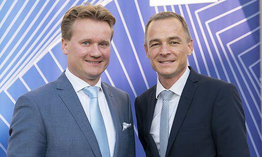 Der steirische IV-Präsident Georg Knill und IV-Geschäftsführer Gernot Pagger