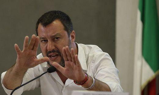Der italienische Innenminister Matteo Salvini