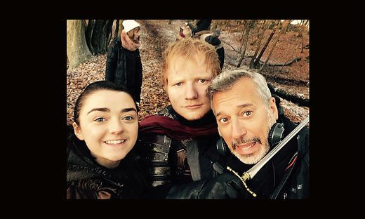 Ed Sheeran mit Maisie Williams