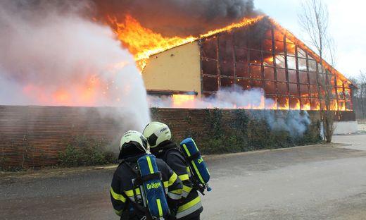 Bis zu 300 Feuerwehrleute kämpften gegen die Flammen an