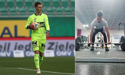 Casali hat den ersten wichtigen Schritt gemacht. Auch im Sportpark Klagenfurt trainiert er an seiner Athletik.