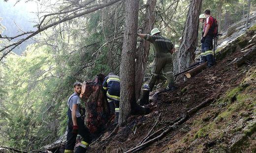 Waldbrand in Obervellach