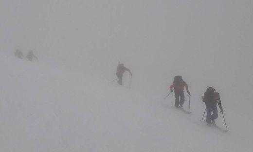 Im dichten Nebel hatten die Bergretter zu kämpfen