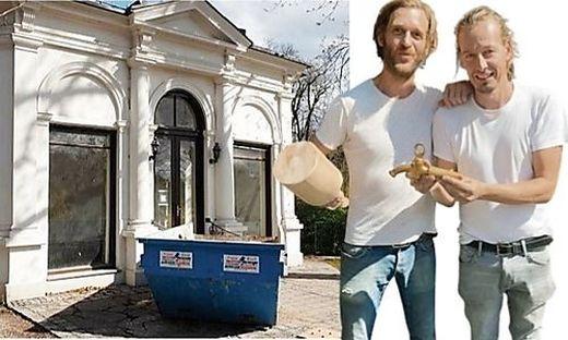 Dominic Flik und Philipp Mayr starten mit Umbau des Stadtpark-Pavillons