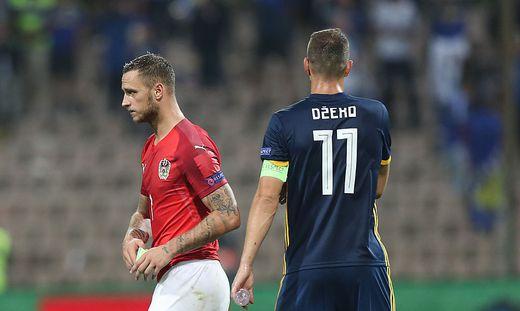 Kapitäne unter sich: Marko Arnautovic und Edin Dzeko
