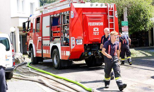 Die Berufsfeuerwehr Graz, die Freiwillige Feuerwehr Graz und Wehren aus dem Umland standen im Einsatz
