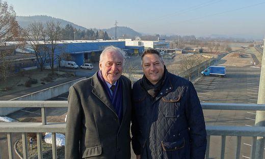 Ferdinand Krobath (links) und Bertram Mayer planen ein großes Einkaufszentrum in Feldbach.