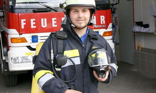 Kai Schratzer fing bei der Jugendfeuerwehr an und ist jetzt aktives Mitglied bei der FF St. Walburgen
