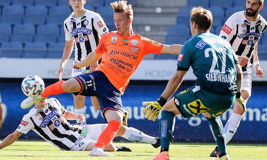 Gegen Sturm erzielte Gabbichler sein bisher einziges Bundesligator