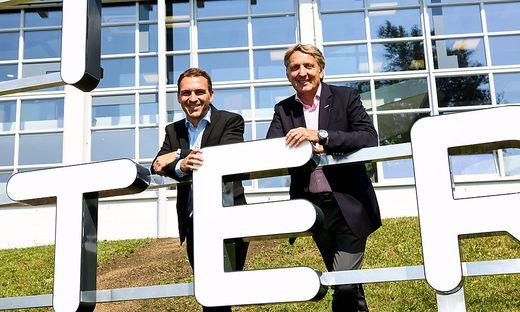 Wifi-Chef Martin Neubauer und WK-Präsident Josef Herk