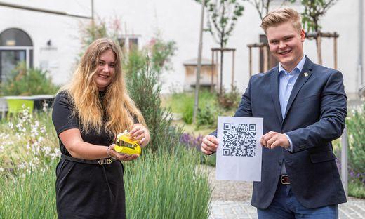Sieger des Wettbewerbs: Runa Freidl und Alexander Pölzl