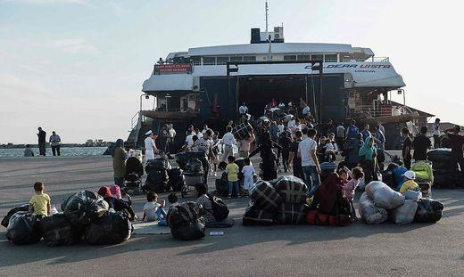 Ankunft von Migranten in Lesbos