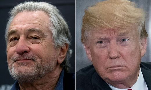 Robert de Niro versus Donald Trump