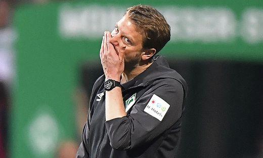Das Spiel von Werder Bremen und Trainer Florian Kohfeldt wird vielleicht nicht im TV übertragen