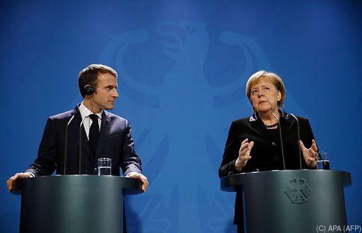 Macron zu Beratungen bei Merkel in Berlin - Schlaglichter