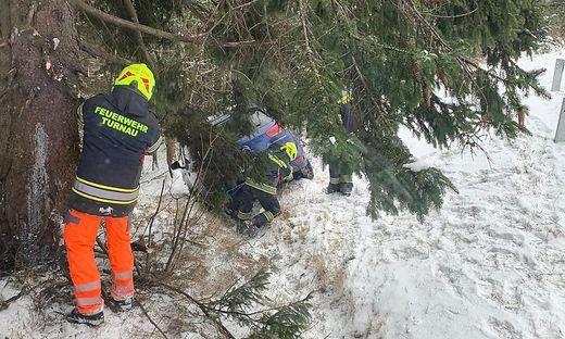 Die Feuerwehr war mit sechs Personen im Einsatz
