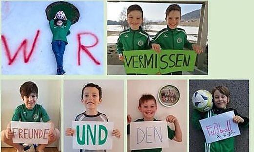Die Nachwuchsfußballer des SV Feldkirchen wenden sich an die Politik