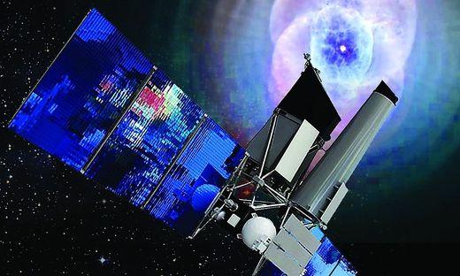 Mit Röntgen alles im Blick: Der in Deutschland entwickelte Satellit eRosita ist seit 2019 im All