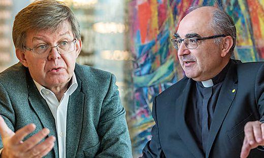 Caritas-Direktor Herbert Beiglböck und Bischof Wilhelm Krautwaschl freuen sich