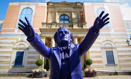 Richard Wagner ist in Bayreuth omnipräsent