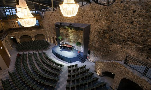 Der Veranstaltungssaal auf der Burg Taggenbrunn