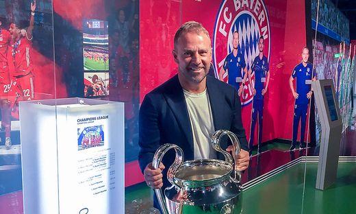 Bayern-Trainer bringt die Champions-League-Trophaee
