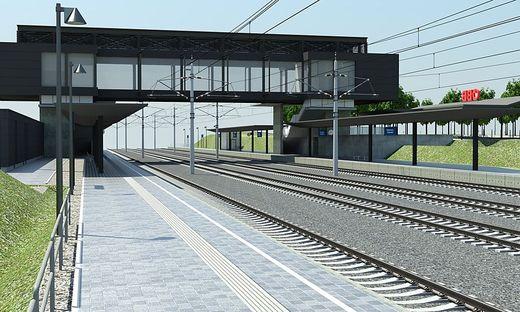 Pläne für die Visualisierung des Bahnhofes Kühnsdorf