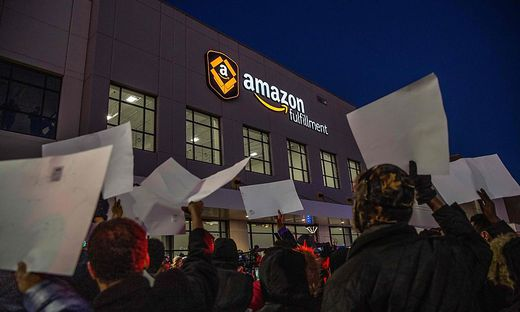 Proteste gegen Amazon in den USA