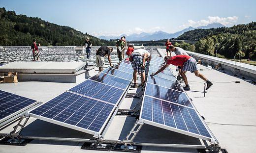 Hofer Logistik Center Weiszenbach Villach Photovoltaikanlage Photovoltaik Oekostrom Strom August 2014