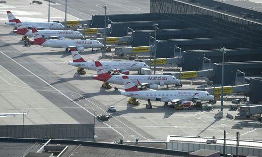 Viele AUA-Flieger bleiben zurzeit am Boden