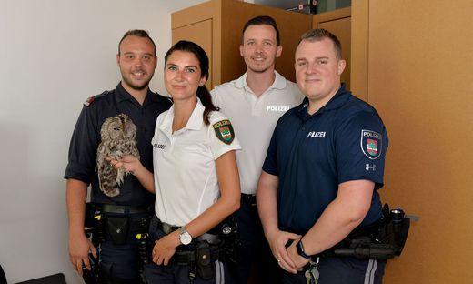 Stadtpolizei rettete Waldkauz von Bahngleis