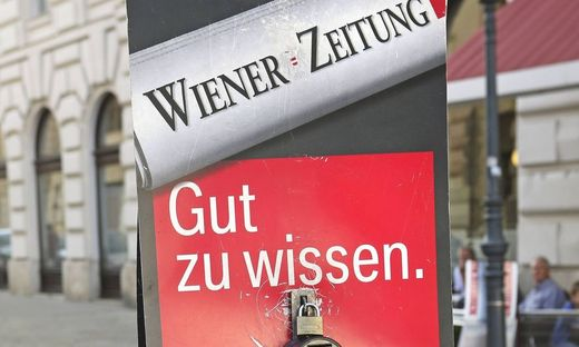 Wiener Zeitung Zeitungsverkauf PUBLICATIONxINxGERxSUIxAUTxHUNxONLY 1065506969