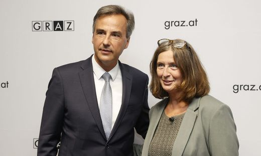 Siegfried Nagl (ÖVP) und Elke Kahr (KPÖ)